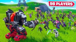 98 PICKAXES vs. 1 MECH - Who Wins?