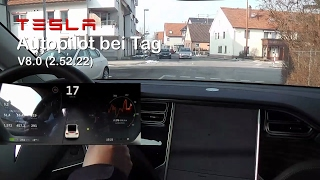 Praxistest: Tesla Autopilot bei Tag (Model X kurz vor V8.1)