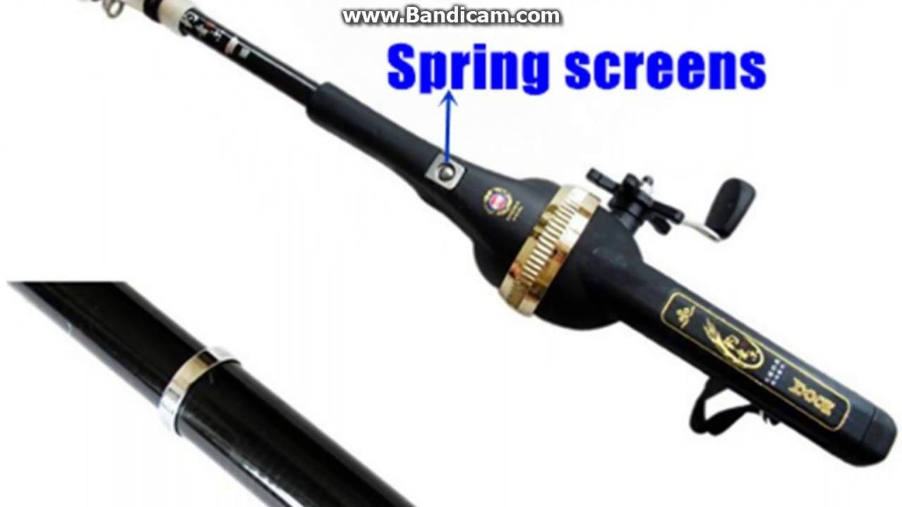 158cm carbon fiber portable folding telescopic mini for Folding fishing rod