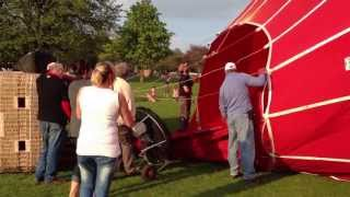 Hot Air Balloon Inflation and Launch - Royal Victoria Park Bath