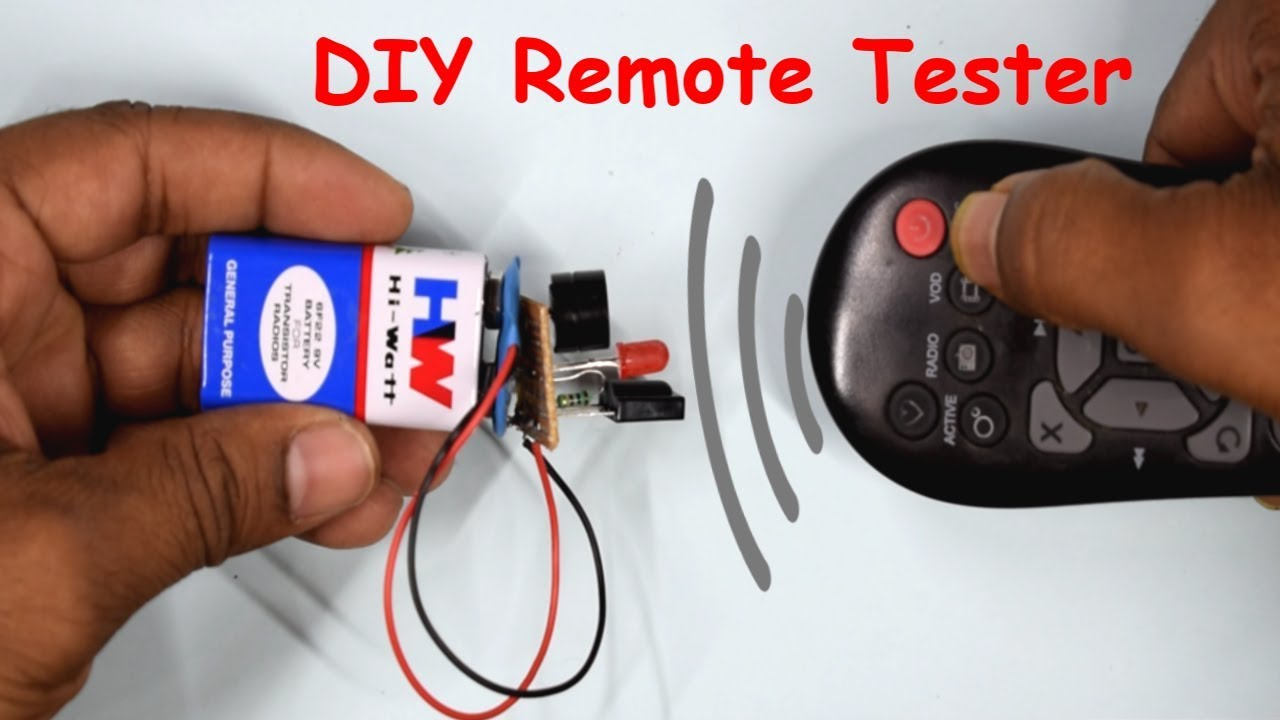How To Make An Ir Remote Tester At Home Diy Circuit Universal