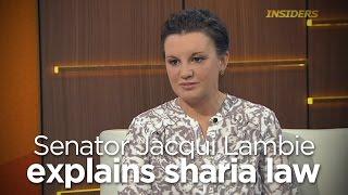 Senator Jacqui Lambie struggles to explain sharia law