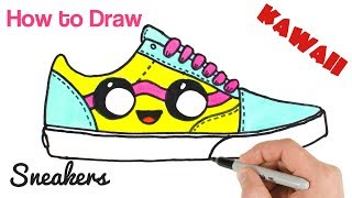 How To Draw Vans Sneakers Shoes Art Tutorial Step By Step