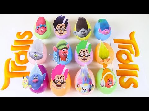 Slime Game with Play Doh Surprise Eggs, Trolls Movie Poppy, Nick Jr Paw Patrol Toys