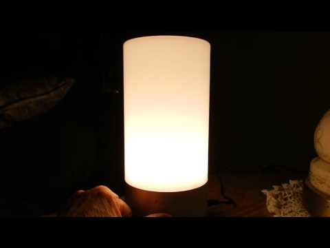 AUKEY Table Lamp, Touch Sensor, Bedside Lamp, dimmable white/colored lights