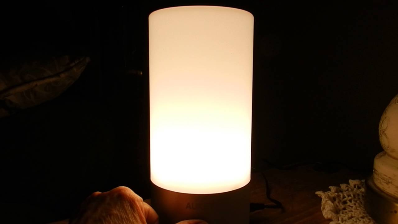 AUKEY Table Lamp, Touch Sensor, Bedside Lamp, dimmable ...