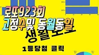 로또923회 고정수및 동월동일