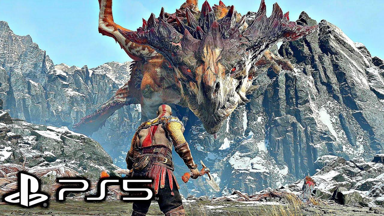 GOD OF WAR 4 Remastered PS5 - Dragon Boss Fight (4K 60FPS)