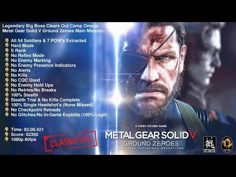 MGSV GZ's - Legendary Big Boss Clears Out Camp Omega (All 54 Soldiers & 7 POW's Extracted) S Rank