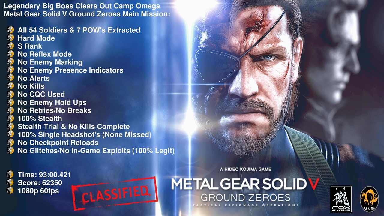Mgsv Gz S Legendary Big Boss Clears Out Camp Omega All 54 Soldiers 7 Pow S Extracted S Rank