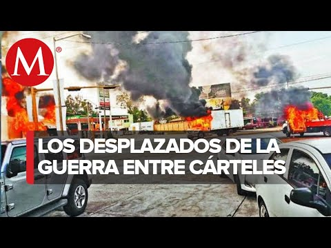 Guerra de carteles en Sinaloa ha dejado a cientos de personas sin hogar