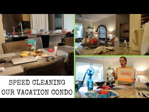 SPEED CLEANING ON VACATION || CONDO CLEANING || CLEAN WITH ME