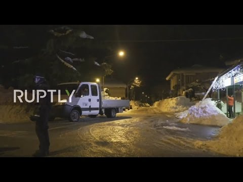 LIVE from Penne as avalanche rescue operations underway