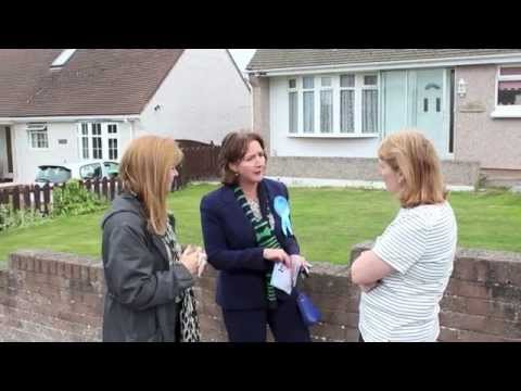 Canvassing in Deganwy with Janet Finch-Saunders AM and Guto Bebb MP