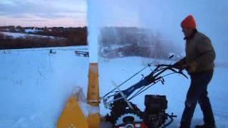 "Berta 33"" snow blower on a tracked BCS 850 diesel"
