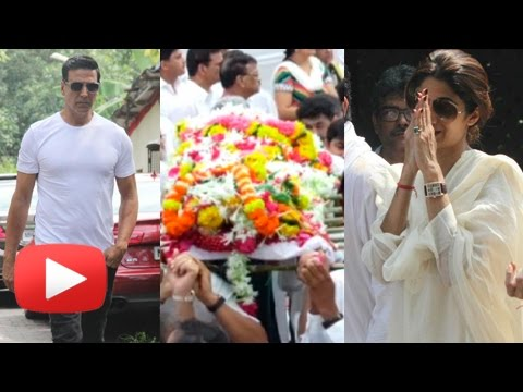 Akshay Kumar, Abhishek Bachchan At Shilpa Shetty's Father Funeral Full Video
