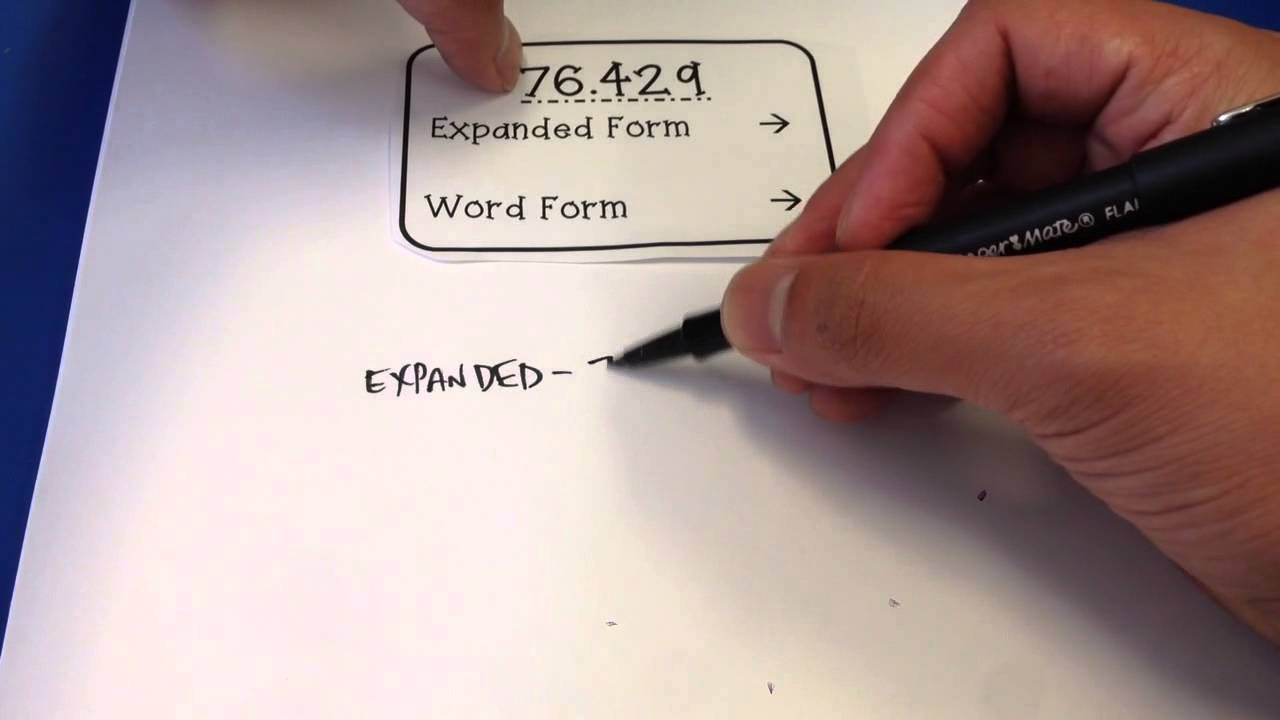 Fifth grade decimal expanded form and word form youtube falaconquin
