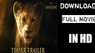 How to download the lion king 2019 full movie in HD.mp3