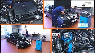 Mercedes benz — membrandose am abgasturbolader prüfen, aus-, einbauen und einstellen (w204)