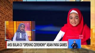 "Aksi Bulan di ""Opening Ceremony"" Asian Para Games 2018"