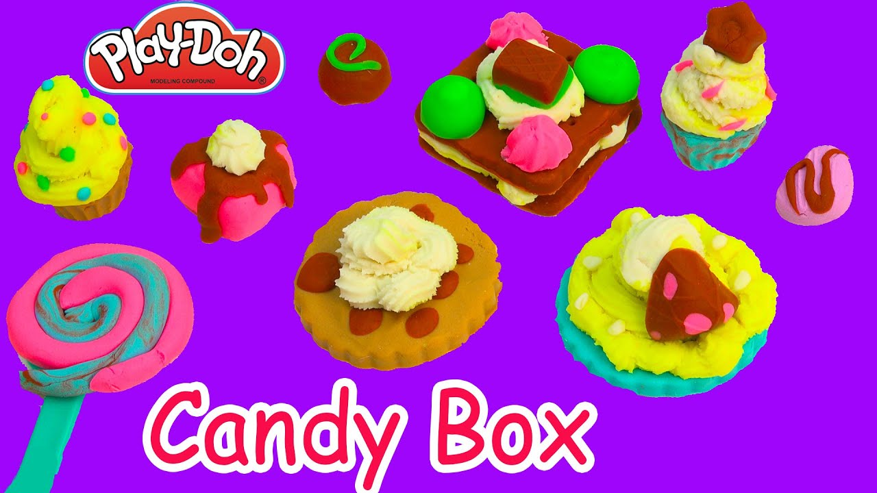 Play-Doh Colorful Candy Box Candies Cookies Frosting Chocolate Food Play Playdoh Sweet Shoppe  sc 1 st  YouTube & Play-Doh Colorful Candy Box Candies Cookies Frosting Chocolate ... Aboutintivar.Com