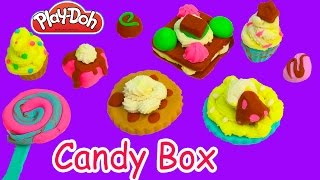 Play-Doh Colorful Candy Box Candies Cookies Frosting Chocolate Food Play Playdoh Sweet Shoppe