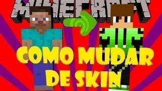 tutorial como colocar skin no minecraft rapido nao pega no multiplayer