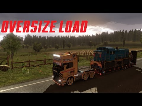 #02 Gameplay Euro Truck Simulator 2 : Convoi exceptionnel - Oversize load Locomotive 80T