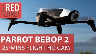 Parrot Bebop 2 quadcopter - 25 mins flight time, 40 mph wind proof, Full HD camera [First Look]]