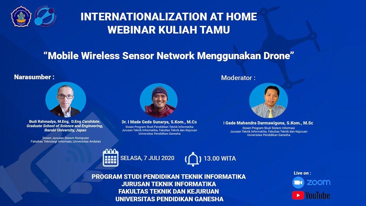Mobile Wireless Sensor Network Menggunakan Drone