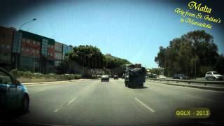 QQLX - 0100 MALTA trip from - St. Julians to Marsascala - Street View Car 2013
