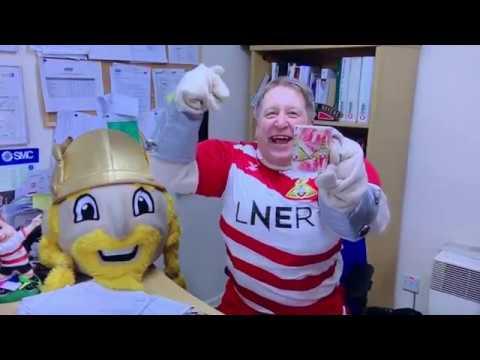 ITV Calendar Doncaster Rovers - Paul Mayfield AKA Erik The Viking