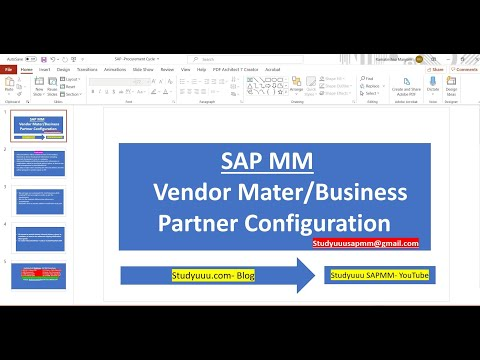 SAP MM- Vendor Master Configuration Process