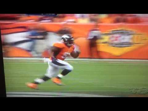 Matt schaub gets blind sided Broncos vs Texans