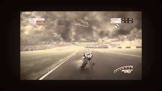 MotoGP 08 - Xbox 360. Under the rain at donington park