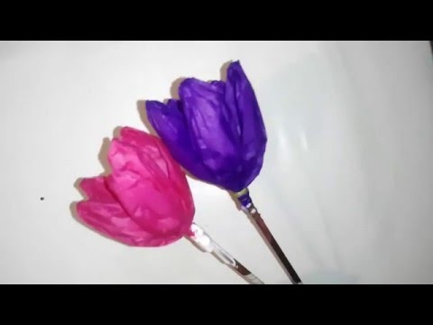 how to make paper tulip flower