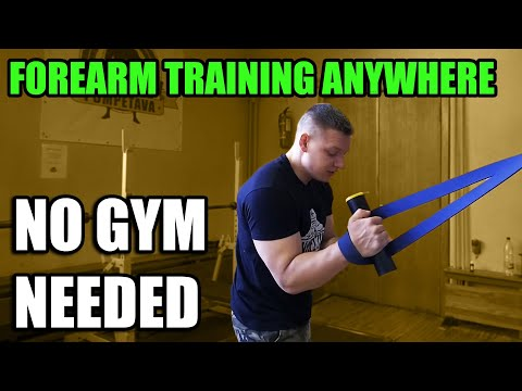 FOREARM WORKOUT AT HOME (with Resistance Band)