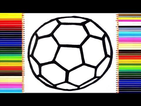 Как нарисовать футбольный мяч/Рисуем и раскрашиваем мяч для детей/раскраски малышам
