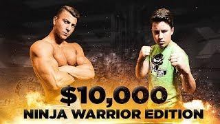 COMPETING FOR $10,000 - NINJA WARRIOR EDITION W/ BRYTON MYLER!! (NinjaKidzTV)