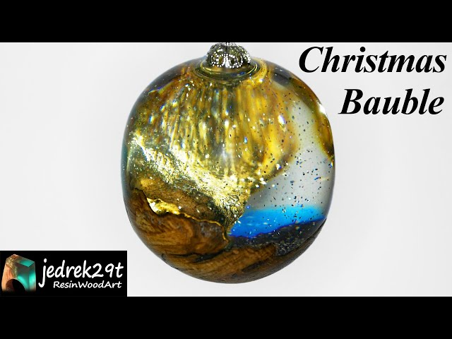 Christmas Bauble with Glitter / RESIN ART