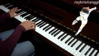 Captain Tsubasa OP - Dragon Screamer - Indonesian & Japanese Fusion [Dimainkan di Piano]