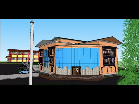 IT cum library building at JNPoly (3D model virtual-guide)