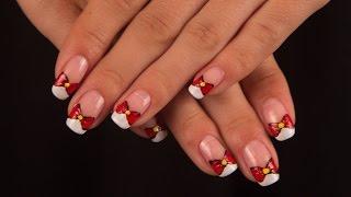 Видеоурок дизайна ногтей - Френч с бантиком