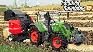 Belowanie słomy - Farming Simulator 19 | #40