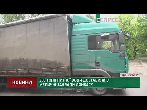 200 тонн питної води доставили в медичні заклади Донбасу