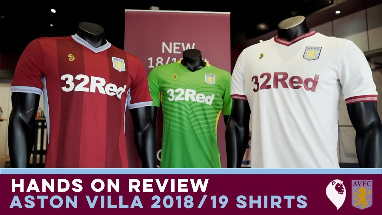 quality design 92f0a 848cb HANDS ON REVIEW | ASTON VILLA 2018/19 SHIRTS