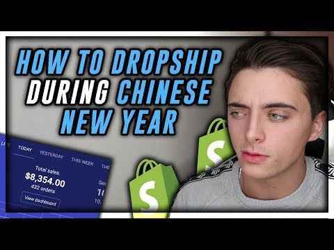 How to keep dropshipping during chinese new year | Shopify Dropshipping 2019 thumbnail