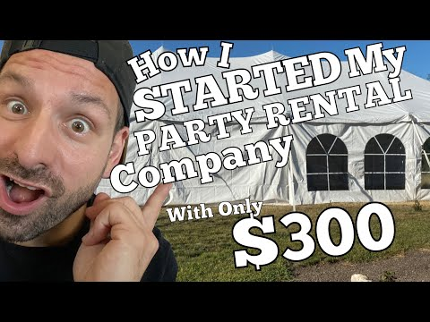 How To Start A Party Rental Company - My Event Rental Business Plan