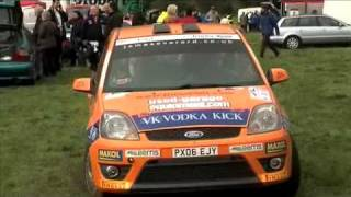 Trailer Lift In Use at Colin McRae Forest Stage Rally 2008