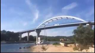 Sailing ship and bridge collision crash - Ugljan Pasman - FAIL !!!!!